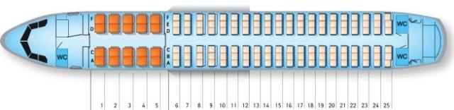 Схема салона