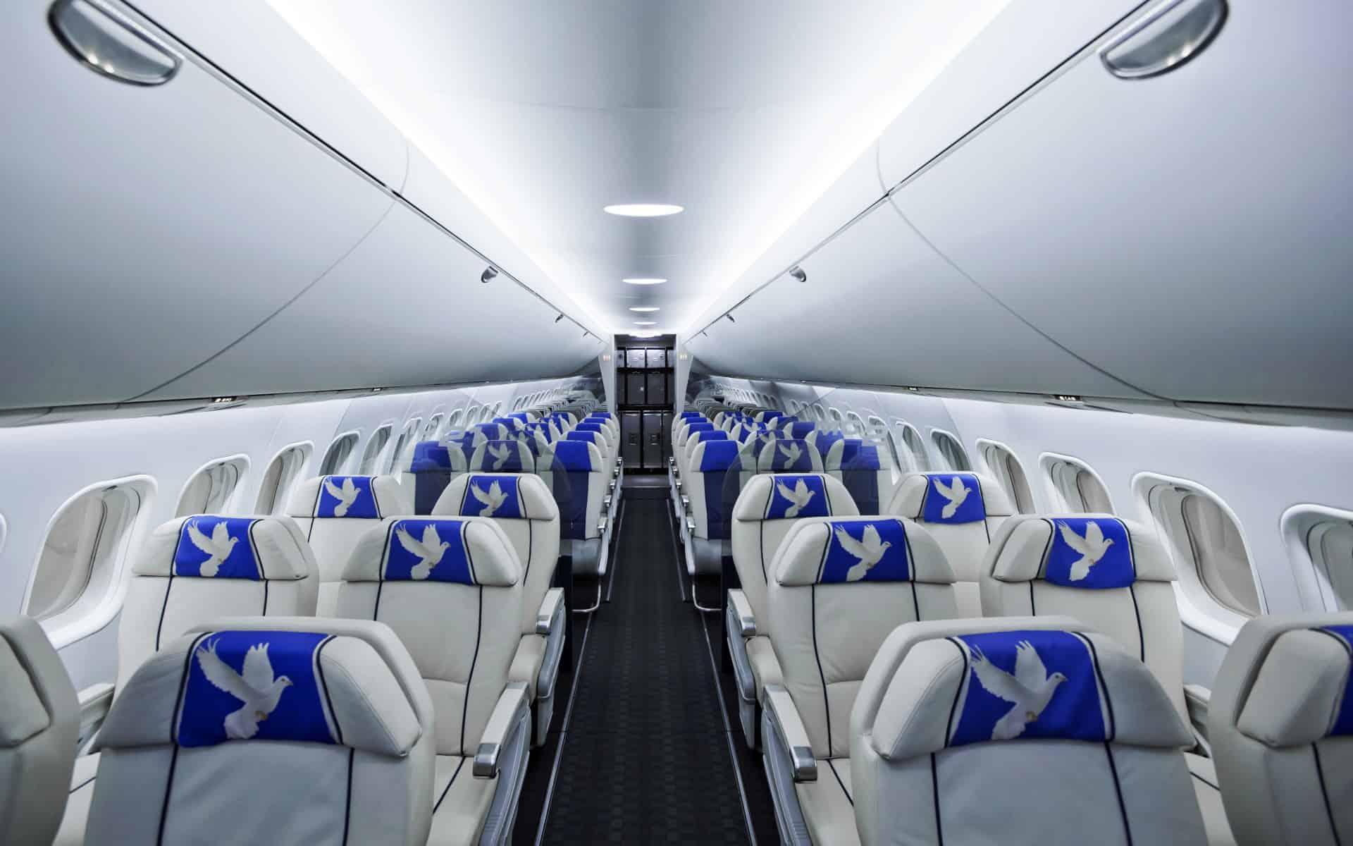 Посадочные места в самолете