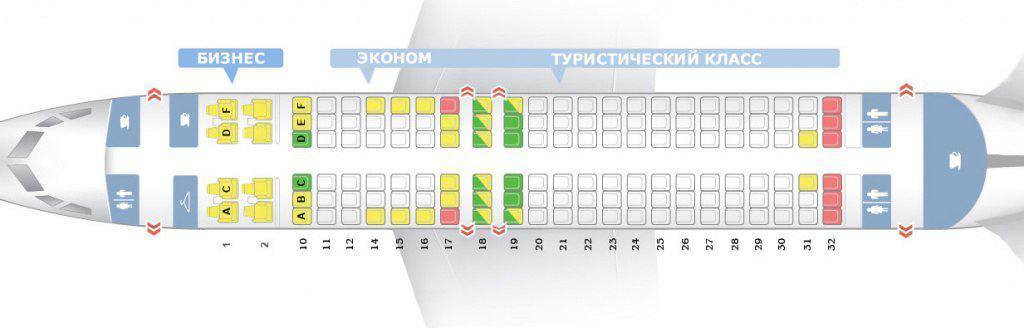 Схема расположения мест