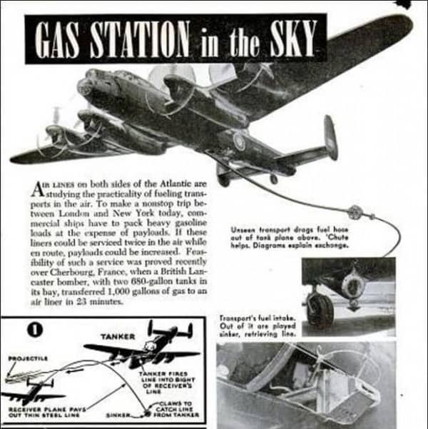 Дозаправка самолета